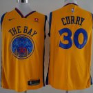 Men's Stephen Curry Jersey THE BAY yellow