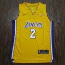 Youth Lonzo Ball lakers jersey yellow
