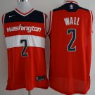 MENS  Ship from US Men's Wizard #2 John Wall jersey red
