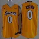 Men's Lakers #0 kyle kuzma jersey yellow