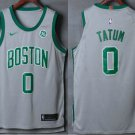 MenS  Boston Celtics #0 Jayson Tatum Grey 2017-2018 Nike Authentic General Electri