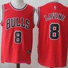 MenS  Chicago Bulls #8 Zach LaVine Red 2017-2018 Nike Swingman Stitched NBA Jersey
