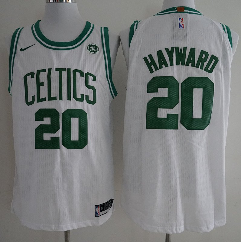 MenS Boston Celtics #20 Gordon Hayward White 2017-2018 Nike Swingman Stitched NBA