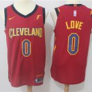 MENS  Cleveland cavaliers Kevin Love 0 embroidery replica red basketball jersey