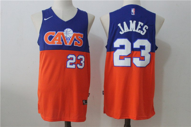 MENS Cleveland cavaliers lebron James 23 embroidery replica blue red jersey