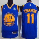 MENS  Golden state warriors Thompson 11 embroidery replica blue basketball jersey
