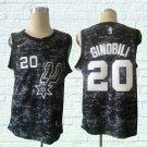 MENS San Antonio Spurs Ginobili 20 camouflage embroidery basketball jersey