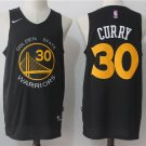 MENS  Golden state warriors Stephen Curry 30 embroidery replica black jersey