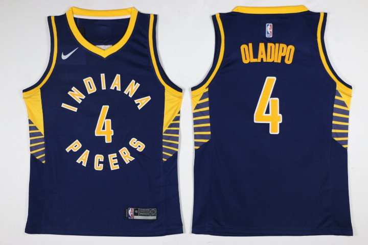 MensIndiana pacer oladipo 4 embroidered blue basketball jersey