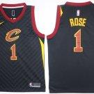 MensCleveland Cavaliers # 1 Derrick Rose Black Stitched Jerseys