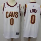 MensCleveland Cavaliers #0 Kevin Love White Stitched Jerseys