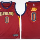 MensCleveland Cavaliers #0 Kevin Love Red Stitched Jerseys