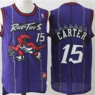 Mens  Toronto Raptors 15 Vince Carter Purple Throwback Basketball Jersey