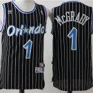 Mens  Orlando Magic Tracy McGrady #1 black Stripe Basketball Jersey