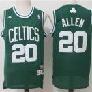 Mens NEW Ray Allen #20 Boston Celtics Basketball Stitched Jersey Green S-XXL