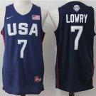 Men's USA Dream Twelve Team #7 Kyle Lowry Navy Blue Stitched Basketball Jersey