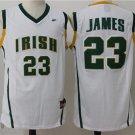 Mens  Irish High School Cool LeBron James 23# Jersey Basketball jersey mans sale