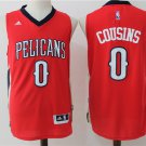 Mens NEW DeMarcus Cousins #0 New Orleans Pelicans Basketball Jersey Red S-XXL