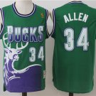 Mens Milwaukee Bucks Ray Allen 34 green Basketball Stitched NBA Jersey sale
