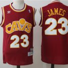 Mens  Lebron James No.23 Vintage Swingman Jersey Cleveland Classics red CAVS