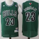 Mens   Green Michael Jordan 23# Chicago Bulls Basketball Stitched Jersey sale