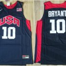 Mens  USA dream team #10 Kobe Bryant Men's NAVY jersey