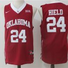 Mens  Oklahoma Sooners Buddy Hield #24 blue Basketball NCAA jersey man sale deal hot