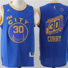 MENS  Golden State Warriors 30 Stephen Curry Blue The City Basketball jersey