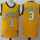 MENs  Philadelphia 76ers 3 Allen Iverson Basketball Jersey yellow Bethel