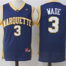 MENs  Marquette Golden Eagles Wade #3 Basketball NCAA jersey man sale deal hot