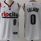 Men's NEW Damian Lillard #0 Portland Trail Blazers Rip City Basketball Jersey White