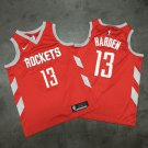 Mens  James Hardenl Jersey #13 Houston Rockets Red Playoff 2018 Swingman