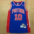 Mens  Dennis Rodman #10 Detroit Pistons Vintage Basketball Swingman Jersey