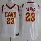 Mens 17-18 New LeBron James Jersey #23 Cleveland Cavaliers CAVS Basketball White