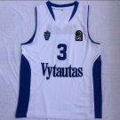 Men's Lithuania Prienu Vytautas LiAngelo Ball #3 White Basketball Jerseys