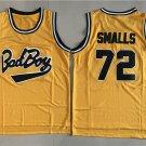 Men's Bad Boy Notorious Big Biggie Smalls #72 Yellow Basketball Jerseys