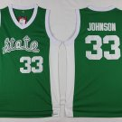 Men's Michigan State Earvin Johnson #33 Green College Basketball Jerseys