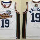 Men's 1996 MTV Rock N Jock Bricklayers Aaliyah #19 White Basketball Jerseys
