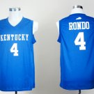 Men's Kentucky Wildcats Rajon Rondo #4 Blue College Basketball Jerseys