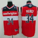 MENS WIZARDS #34 PAUL PIERCE STITCHED BASKETBALL JERSEY