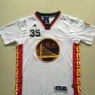 MENS WARRIORS #35 KEVIN DURANT WHITE SHORT SLEEVE JERSEY