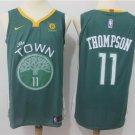 MENS WARRIORS #11 KLAY THOMPSON GREEN BASKETBALL JERSEY