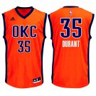 MENS THUNDER #35 KEVIN DURANT ORANGE BASKETBALL JERSEY