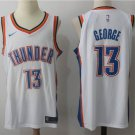 MENS THUNDER #13 PAUL GEORGE WHITE BASKETBALL JERSEY