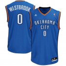 MENS THUNDER #0 RUSSELL WESTBROOK BLUE STITCHED JERSEY