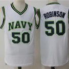 MENS SPURS #50 DAVID ROBINSON WHITE&GREEN STITCHED JERSEY