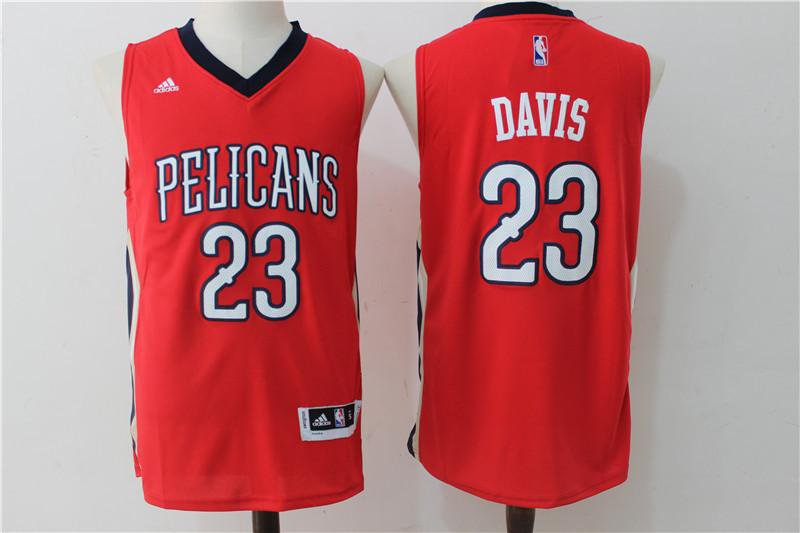 MENS NEW ORLEANS PELICANS #23 ANTHONY DAVIS RED JERSEY