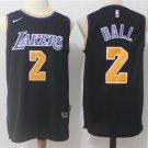 MENS LAKERS #2 LONZO BALL BLACK STITCHED BASKETBALL JERSEY