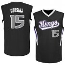 MENS KINGS #15 DEMARCUS COUSINS BLACK BASKETBALL JERSEY