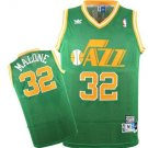 MENS JAZZ #32 KARL MALONE MEN RETRO GREEN JERSEY